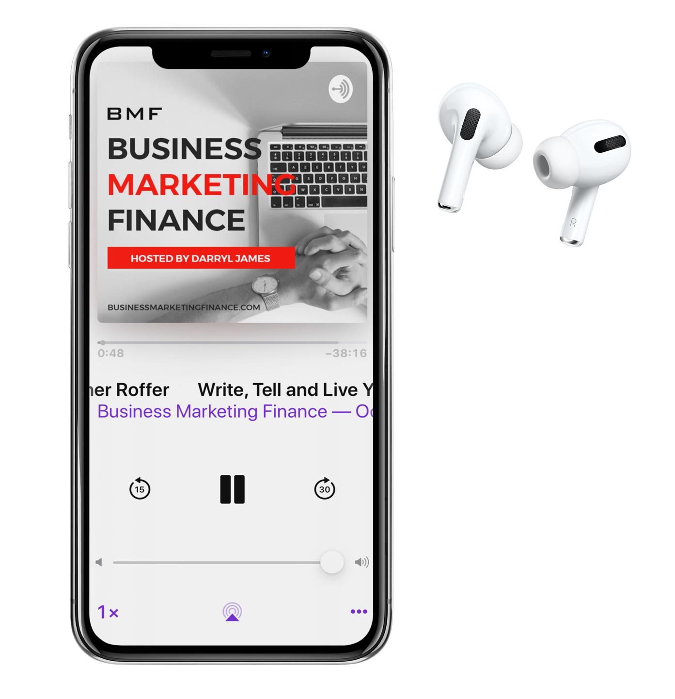 Home podcast mock up